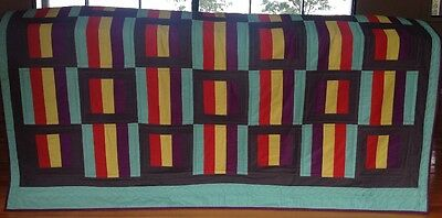 Modern single bed patchwork quilt/throw