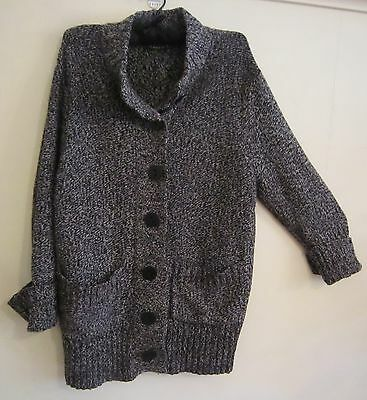 MAGGIE T Lambswool Cardigan-Size 1/16-18 MUST SEE