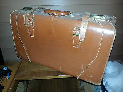 Vintage Leather Suitcase From McBrine