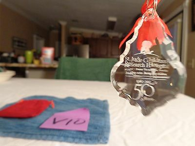 St. Jude Children's Research Hospital 50 Years 1962-2012 crystal prism,ornament