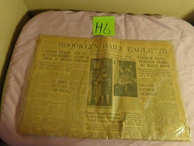 Brooklyn Daily Eagle newspaper MONDAY APRIL 15,1929,WALL STREET CRASH,STOCK