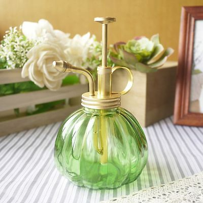 Purism Style Glass & Brass Gardening Planting Mister Green Color Water Sprayer