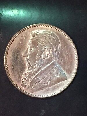 SOUTH AFRICA 1897 1 SHILLING SILVER COIN. Z Afrik Rep