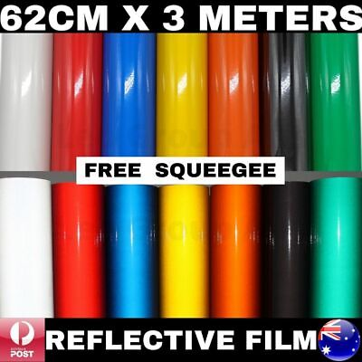 62Cm X 3M Premium Quality Colour Reflective Vinyl Wrap Film Sticker Signage Car