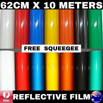 62Cm X 10M Premium Quality Colour Reflective Vinyl Wrap Film Sticker Signage Car