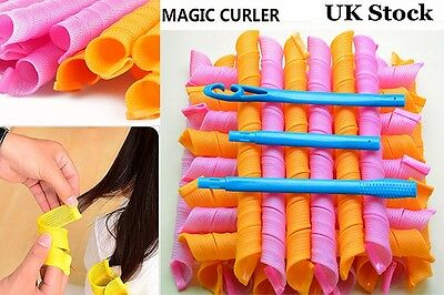 40Pcs 55cm Hair Curlers Magic Circle Spiral Styling Tools Rollers Convenient DIY