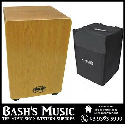 MP Drummers Cajon Maple Veneer with Carry Case – NEW