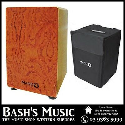 MP Drummers Cajon Rosewood with Carry Case – NEW