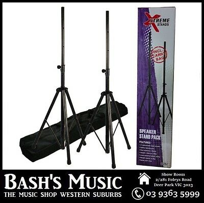 Xtreme SS252 Speaker Stands Heavy Tripod Package With Carry Bag