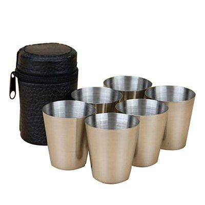 4PCS/6PCS Chic Cups Mugs Stainless + Bag Travel Set for Tea Coffee Espresso Beer