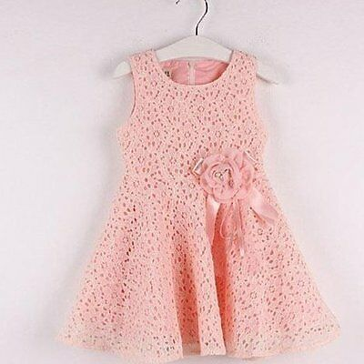 Baby Girls Kids Flower Lace Summer Sundress Party Skirt Dress Tutu Dresses LOT