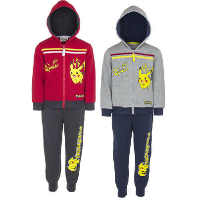 New boys licensed Pokemon tracksuit outdoor jogging suit 4-12 years bnwt