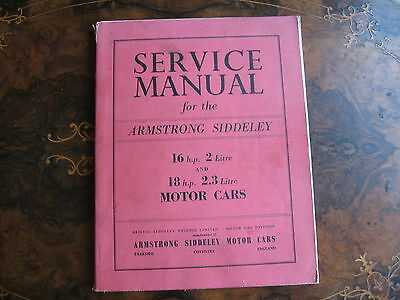 Armstrong Siddeley Service Manual