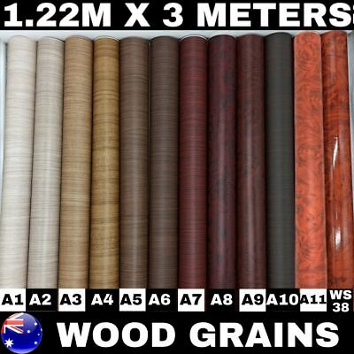 1.22M X 3M Wood Grain Vinyl Wrap Film Sticker For Car Furniture Laptop Mobile