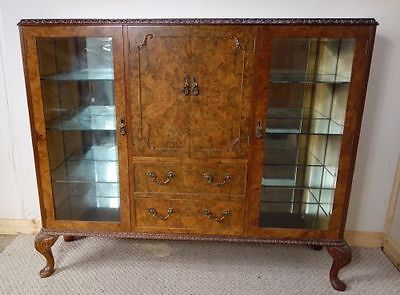 Walnut Display Cabinet, nationwide delivery