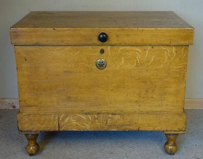 Victorian Military Pine & Faux Pine Box Chest, nationwide delivery