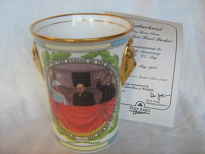 Sutherland Limited edition lion mug to commemorate 50th anniversary of V E Day