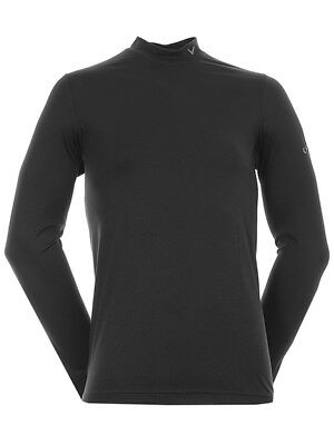 Callaway Crew Neck Mock Base Top - Caviar