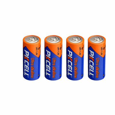 4 x PKCELL N Size 1.5V Alkaline Batteries ( LR1, AM5,E90, MN9100 ) Battery