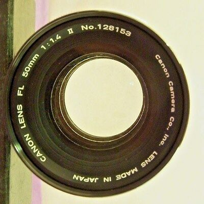 Canon FL 50mm 1:1.4 II Vintage Camera Lens