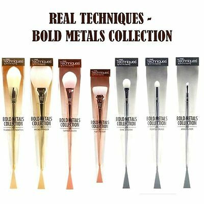 REAL TECHNIQUES Bold Metal Makeup Brushes Blush 7 Pcs Set Full Kit Collection