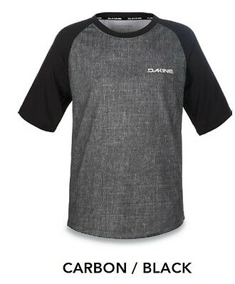 Dakine Bike Kids Dropout Ss Jersey -Size Km (7/8)-Carbon/black- Camiseta/t-Shirt