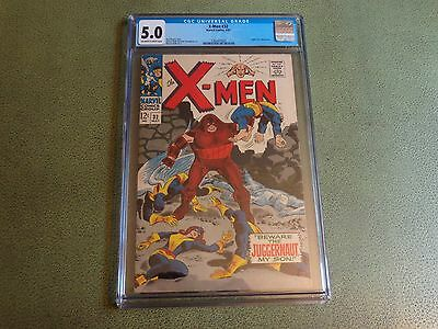 X-Men 32 CGC 5.0 Off to White Pages - Juggernaut Appearance
