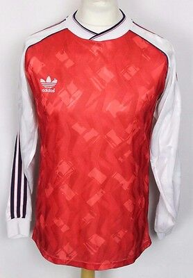 #9 VINTAGE ADIDAS ORIGINAL 80's ARSENAL HOME STYLE FOOTBALL SHIRT MENS LARGE