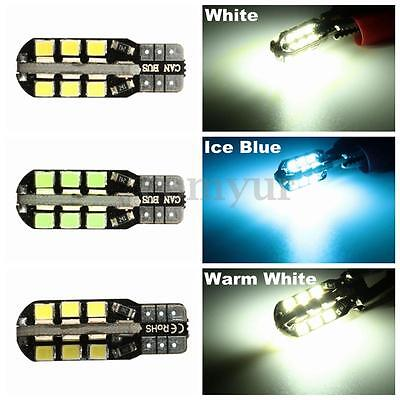 Brightest T10 Car Bulbs Led Error Free Canbus 24 Smd White W5W 501 Side Light