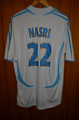 Olympique Marseille France 2006/2007 Home Football Shirt Jersey Adidas #22 Nasri