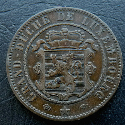 Luxembourg 10 Centimes 1855A