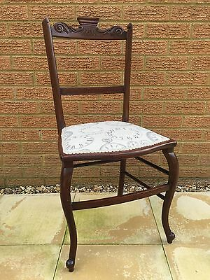 Vintage Chair With Clocks Upholstrey
