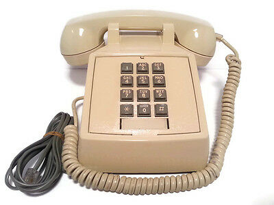 Vintage Bell ITT Western Electric Push Button Beige Phone 2500 Working Ship Fast