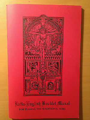 New Latin English 1962 Missal Booklet For The Traditional Latin Tridentine Mass