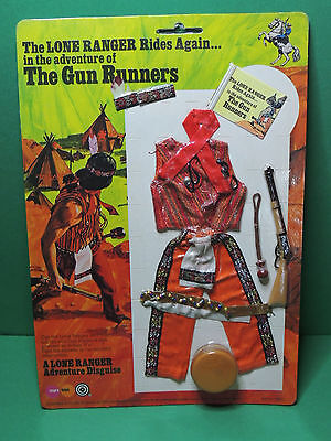 The Lone Ranger GUN RUNNERS outfit for action Figurine doll figure Marx toys 70s