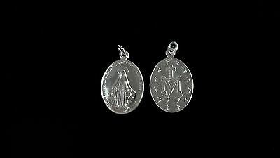 New Sterling Silver Miraculous Medal Pendant