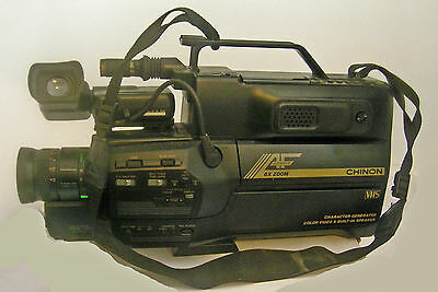 Chinon HQ Direct Color/Sound Video Camera  w/ Character Generation CV-T65 Used