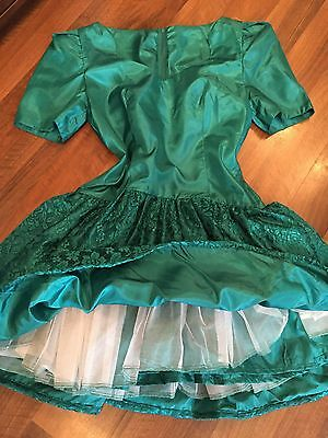 Vintage 80s Satin & Lace Party Dress Sissy Glamour Clothing Babydoll Dresses