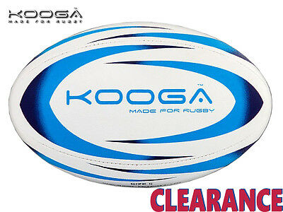 *clearance New* Kooga - Durban Rugby Ball - White/cyan/navy - Size 5