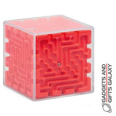 3D CUBE MAZE BALL BEARINGS CHALLENGING PUZZLE GAME toy gift childs adults gadget