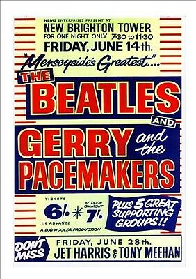 The Beatles Concert Poster at New Brighton Tower (w/Certificate of Authenticity)