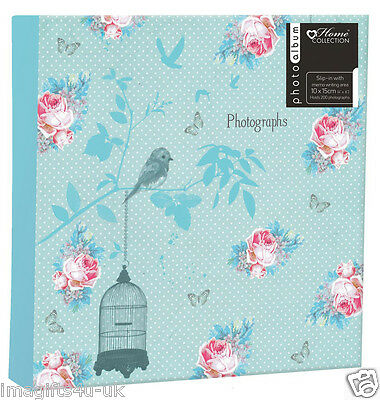 Floral Photo Album (6'' x 4'') Holds 200 Photos Gift Picture Photo Book