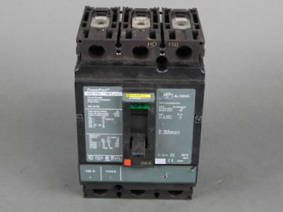 Square D 3-Pole, 150 Amp, 690V Circuit Breaker HD-150 - NEW Surplus!