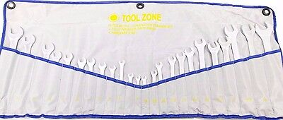 24pc Combination Combo Ring Open End Spanner Set Wrench Metric SAE SP012