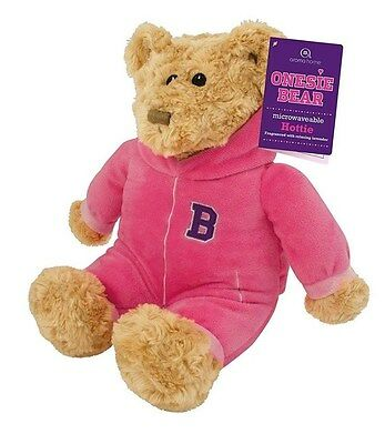 Aroma Home Pink Bear Microwavable Hottie Heatable Heated Cuddly Cozy Warmer Warm