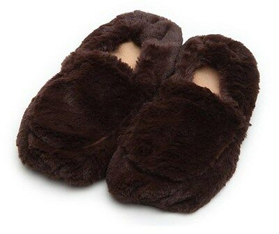 Interlex Furry Warmers Fully Microwavable Furry Slippers Brown (Fits sizes 3-8)