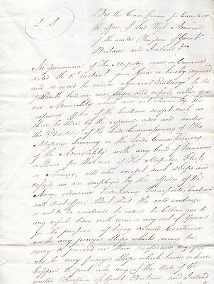Napoleonic Wars Era Letter from the Admiralty to the Duke of Argyll, 1805