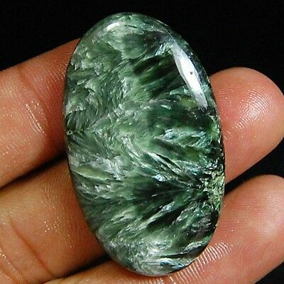 38.50 Cts Natural Designer Green Seraphinite Oval Cabochon Top Loose Gemstones