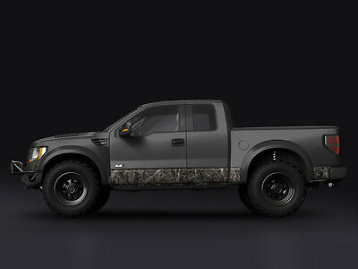 """Camo """"Woodland Ghost"""" Rocker Panel Graphic Decal Wrap Kit Truck SUV 12"""" x 24'"""