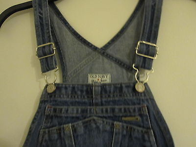 Childs Blue OLD NAVY bib carpenter overalls/ jeans size 6/7 100%Cotton